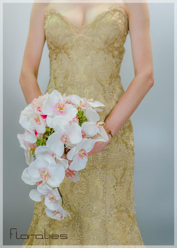Les Orchidées roses en bouquet
