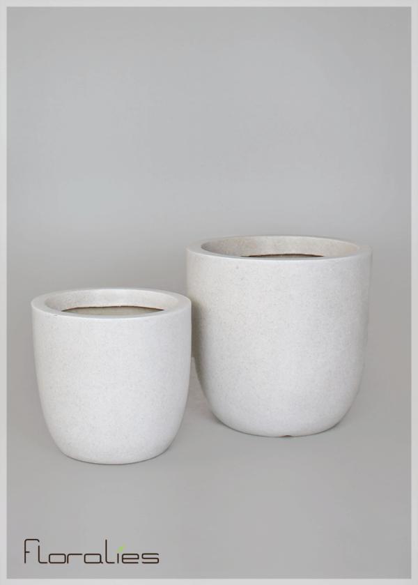 Pot cylindrique gris décoratif