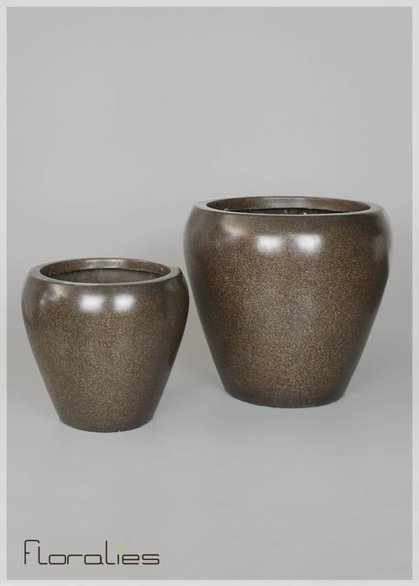 Pot conique marron décoratif