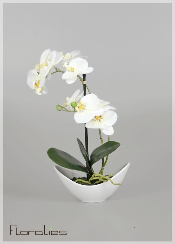 Orchidée artificielle pot oval